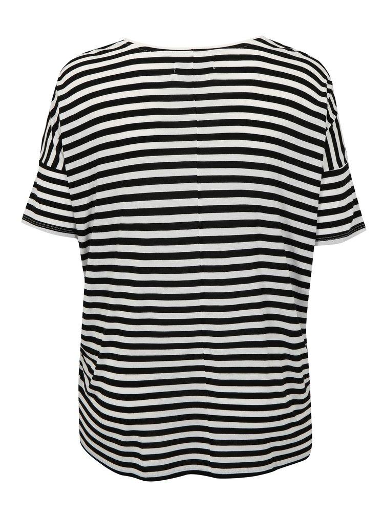Černo-bílé pruhované tričko simply be.