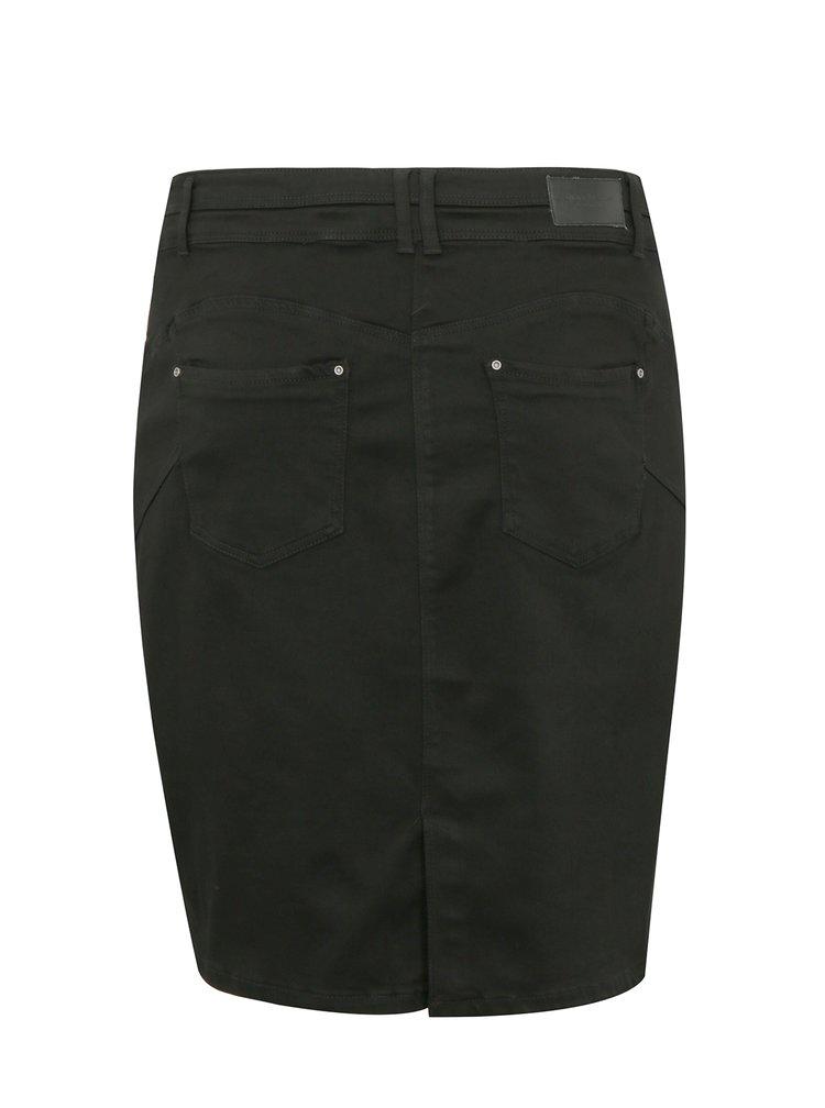 Černá džínová push up sukně simply be.