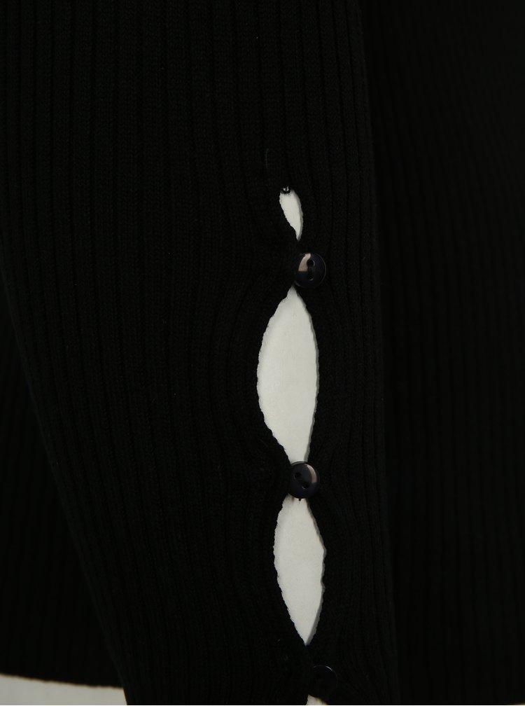 Černý lehký svetr s véčkovým výstřihem simply be.