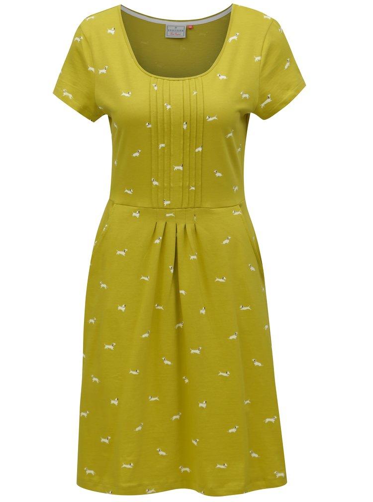 Světle zelené šaty s motivem pejsků Brakeburn