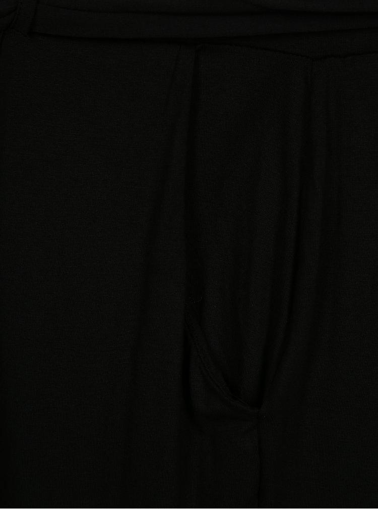Černé široké zkrácené tepláky simply be.