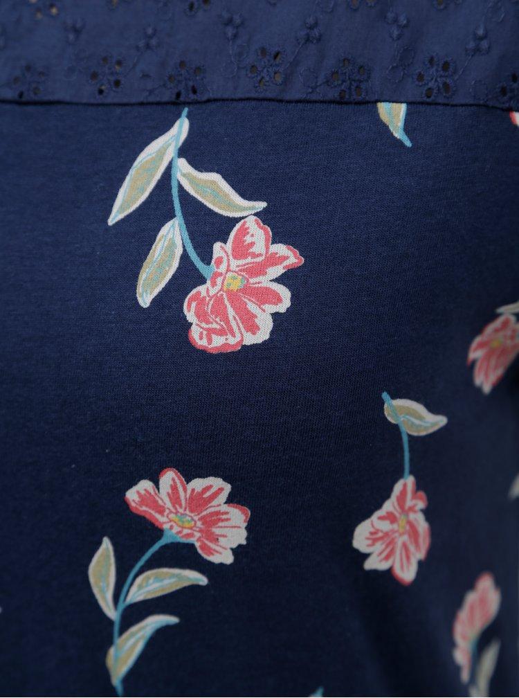 Tmavě modré květované maxišaty Brakeburn