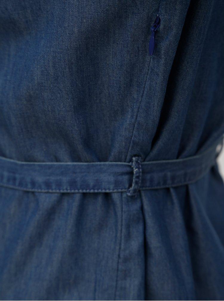 Modré džínové šaty se zavazováním v pase Brakeburn