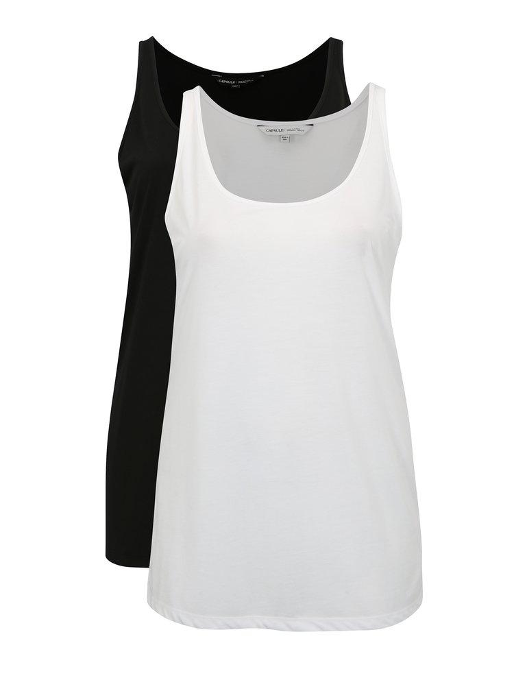 Sada dvou tílek v bílé a černé barvě simply be.
