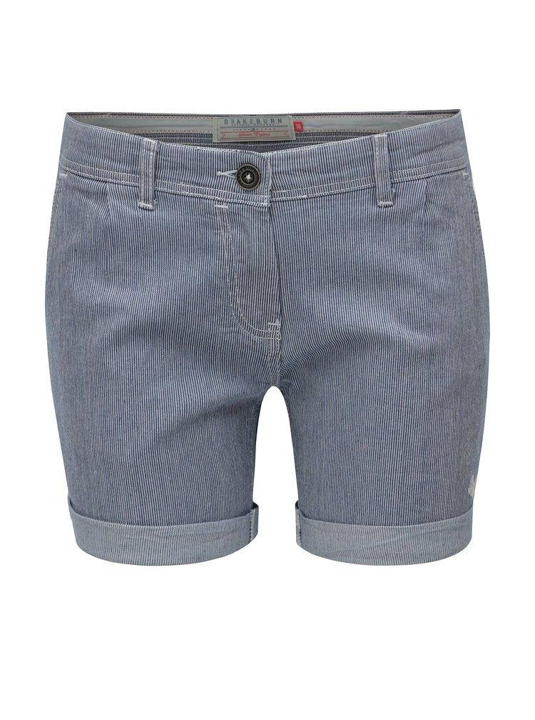 Pantaloni scurti albastri in dungi Brakeburn