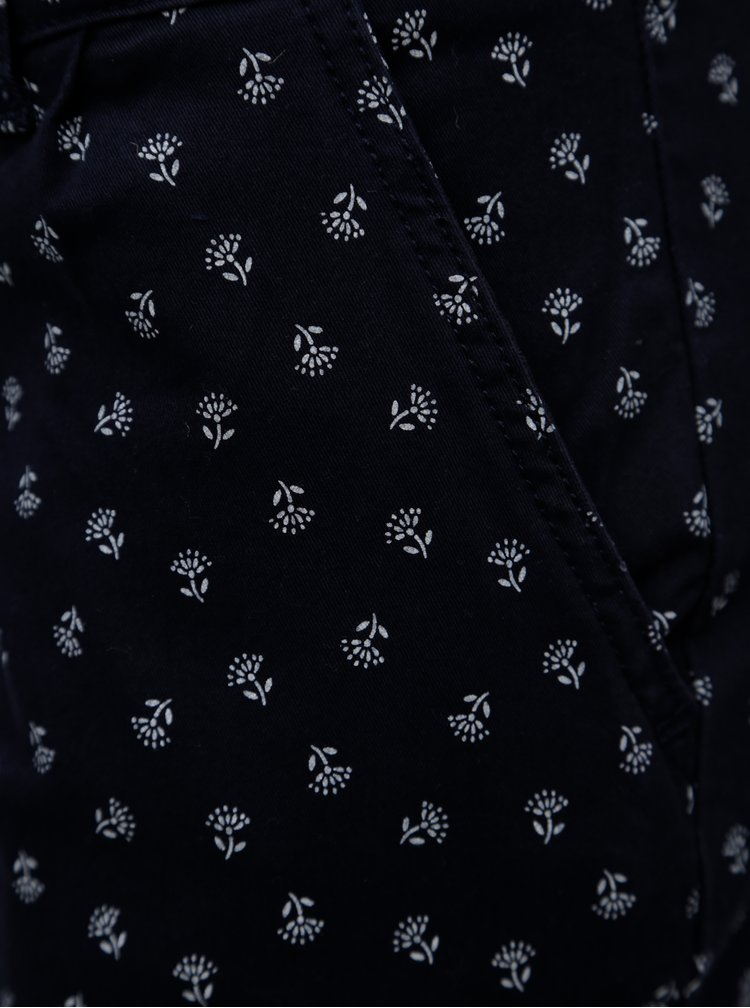 Tmavě modré vzorované kraťasy Brakeburn