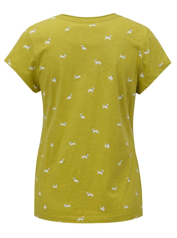 Světle zelené tričko s potiskem pejsků  Brakeburn