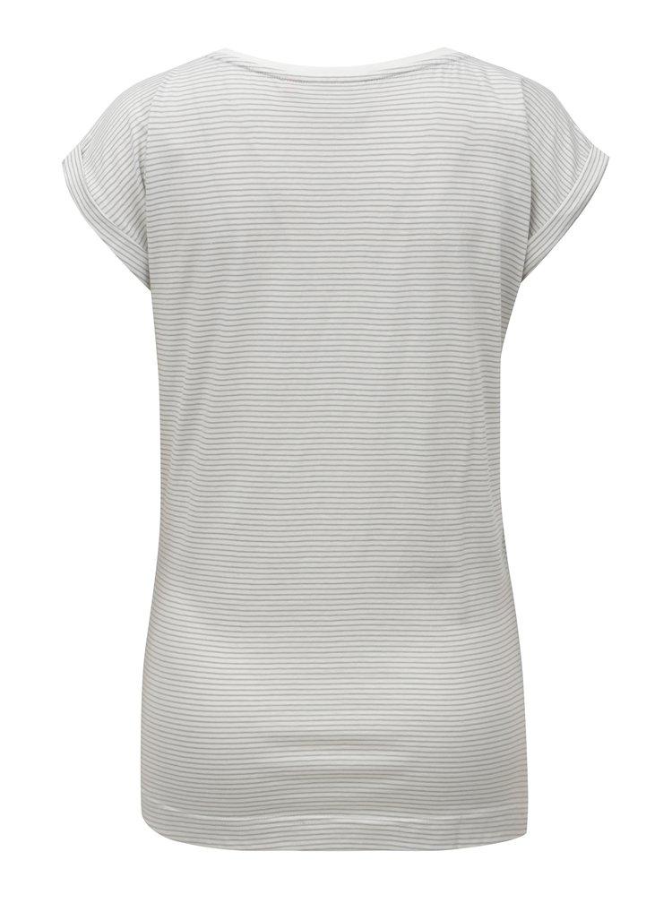 Bílé pruhované  tričko s motivem vlaštovek Brakeburn