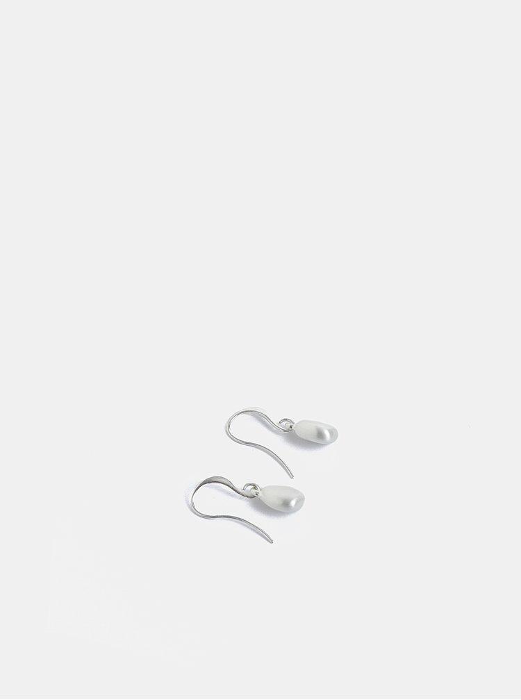 Postříbřené visací náušnice ve stříbrné barvě Pilgrim