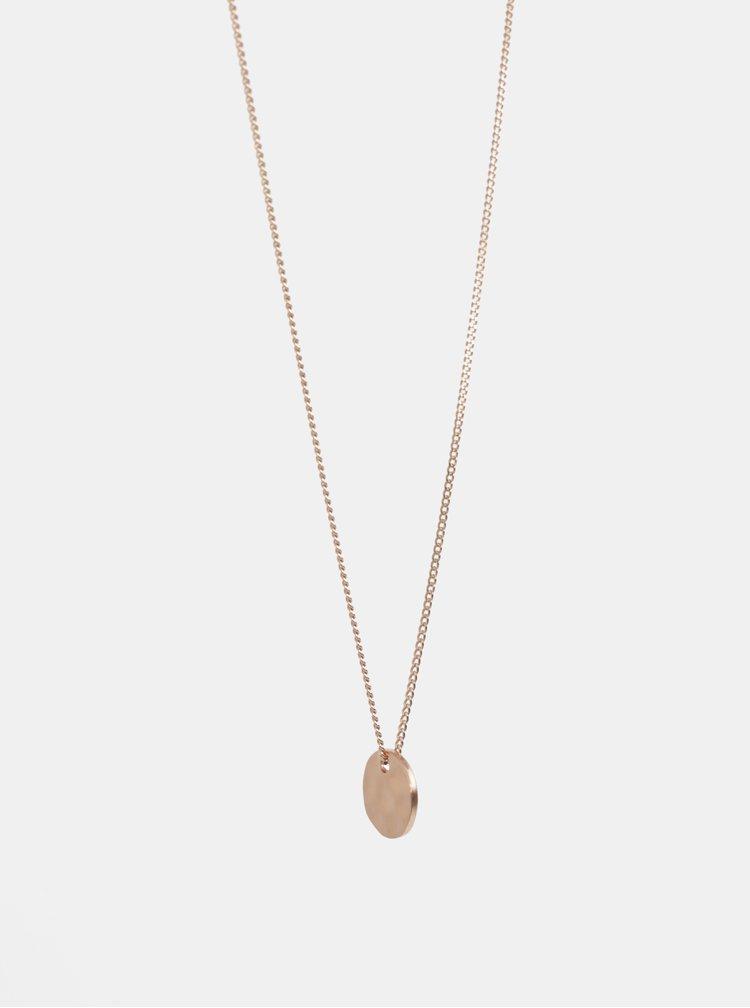 Pozlacený náhrdelník s přívěškem v růžovozlaté barvě Pilgrim