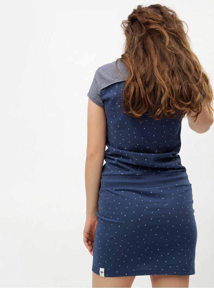 Tmavě modré vzorované šaty Ragwear Mike