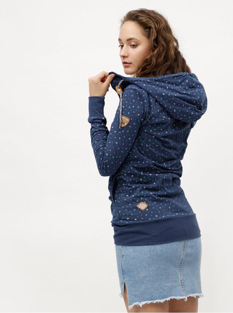 Tmavě modrá dámská vzorovaná mikina Ragwear Abbie