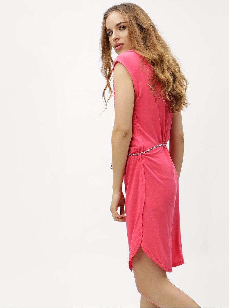 Růžové šaty se vzorem Ragwear Valencia