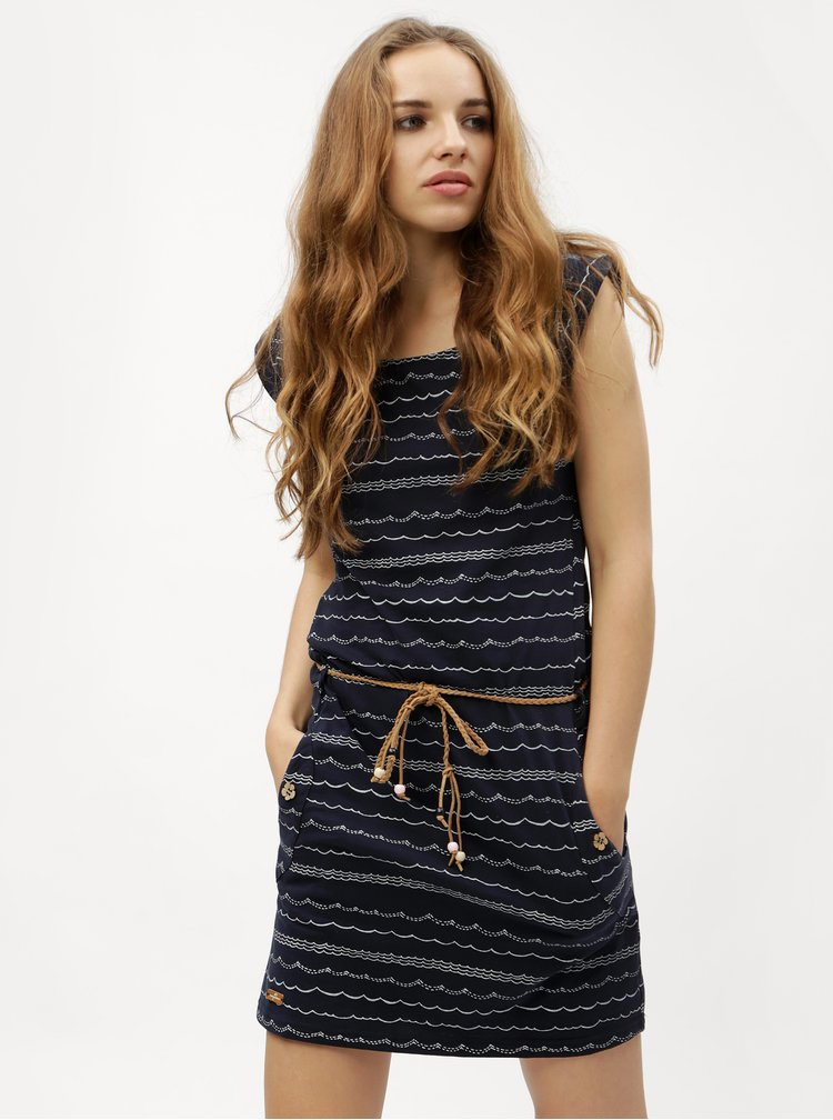 Tmavě modré pruhované šaty Ragwear Tag Waves