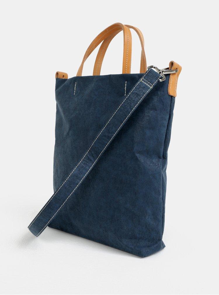 Tmavě modrá crossbody kabelka s koženými detaily UASHMAMA® Otti