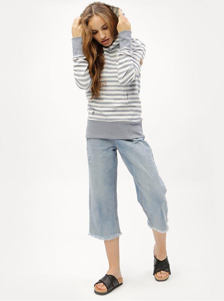 Modro-krémová dámská pruhovaná mikina Ragwear Chelsea