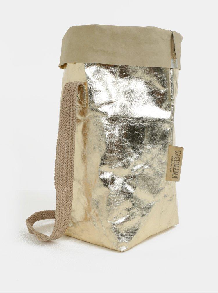 Taška s jedním popruhem ve zlaté barvě UASHMAMA® Carry one small