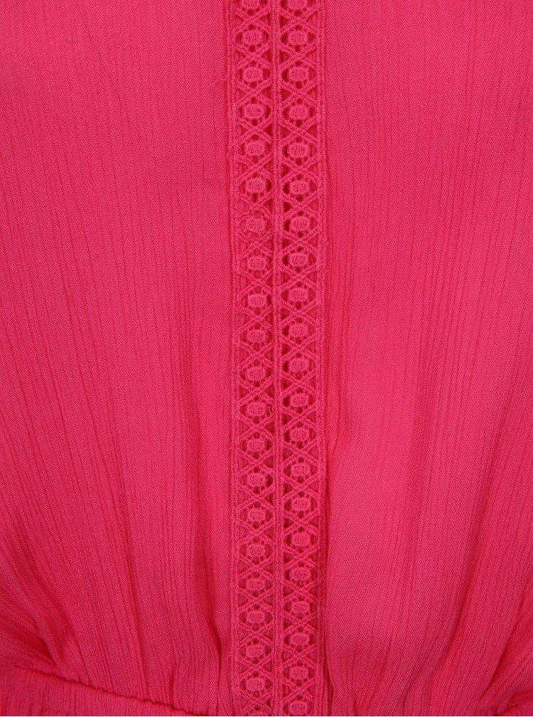 Růžové maxišaty simply be.