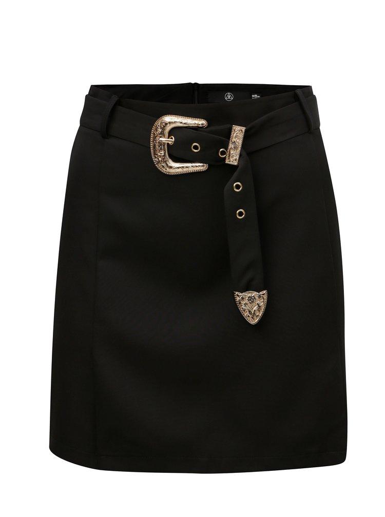 Rochie neagra cu cordon si detalii aurii MISSGUIDED