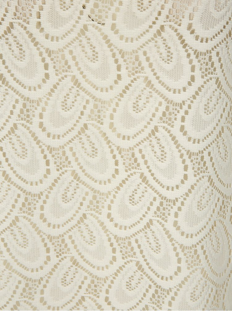Krémové průsvitné krajkové tílko Jacqueline de Yong Cart