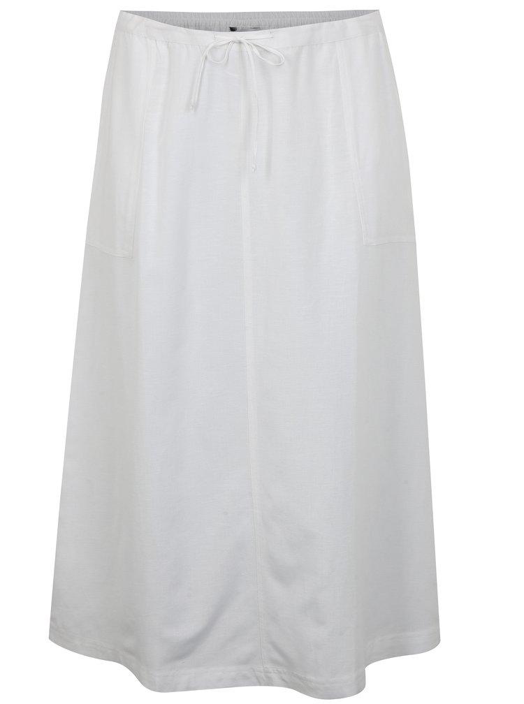 Bílá sukně s příměsí lnu simply be.