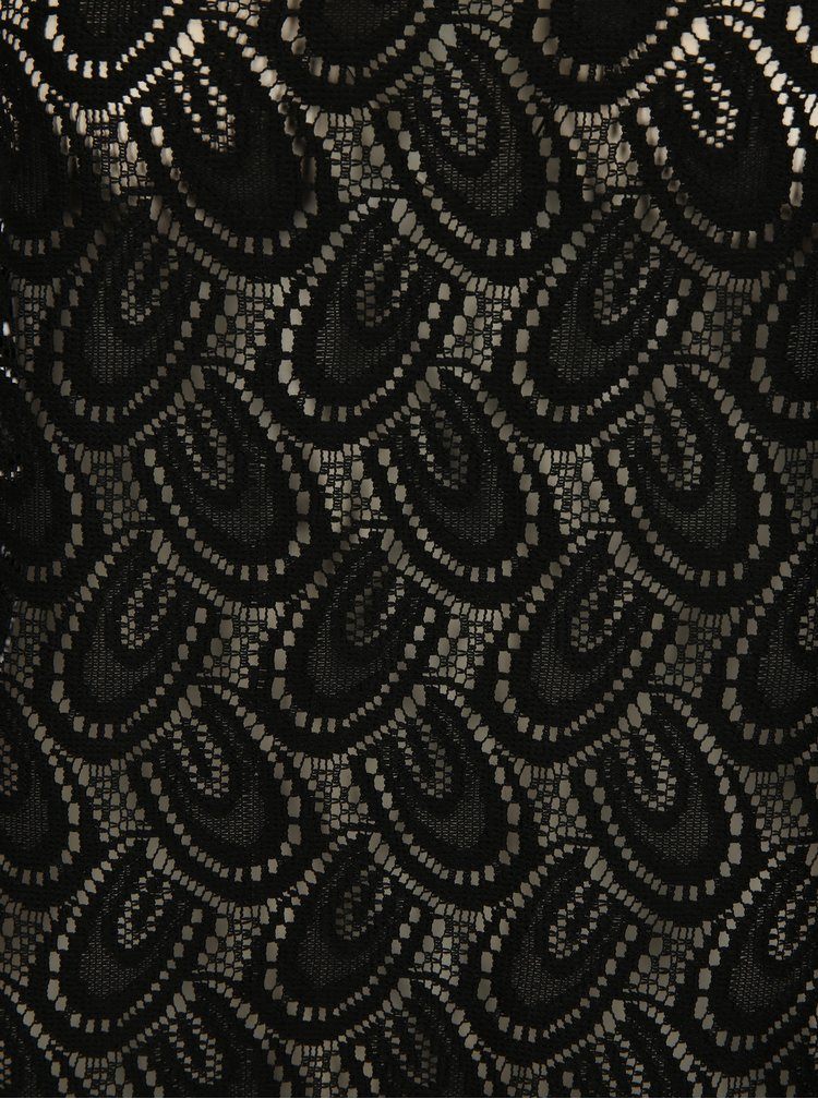 Černé průsvitné krajkové tílko Jacqueline de Yong Cart