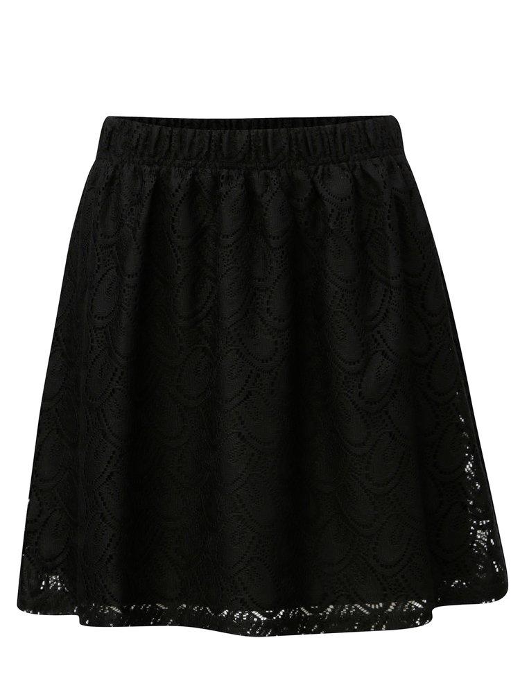 Čierna čipkovaná sukňa Jacqueline de Yong Cart