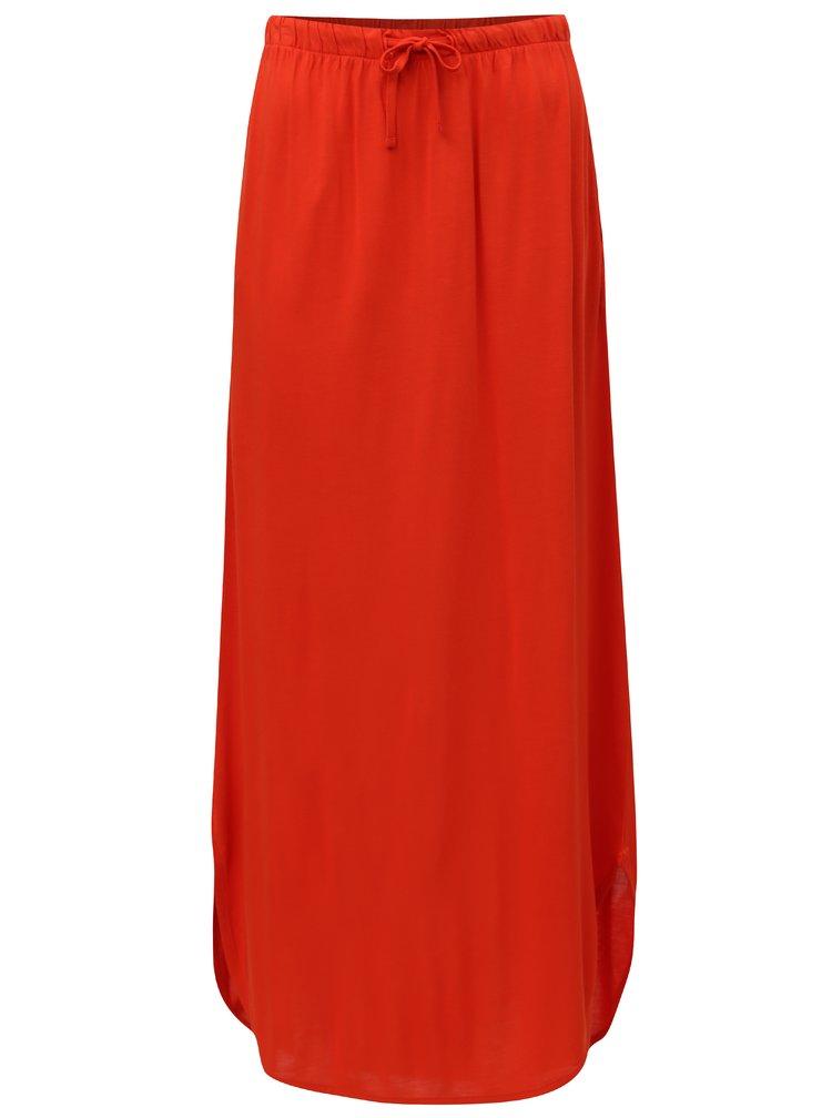 Červená maxi sukně s kapsami Jacqueline de Yong Safety