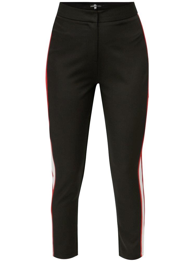 Černé slim kalhoty s vysokým pasem MISSGUIDED