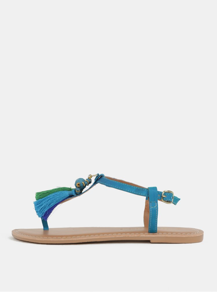 Tyrkysové sandály se střapci Dorothy Perkins