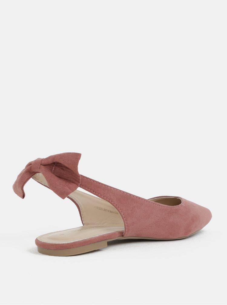 Balerini roz prafuit cu fundita si cu decupaj pe calcai Dorothy Perkins
