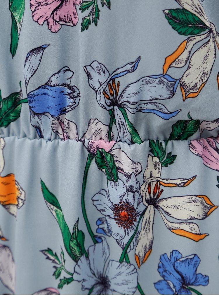 Modré květinové šaty Jacqueline de Yong Chili