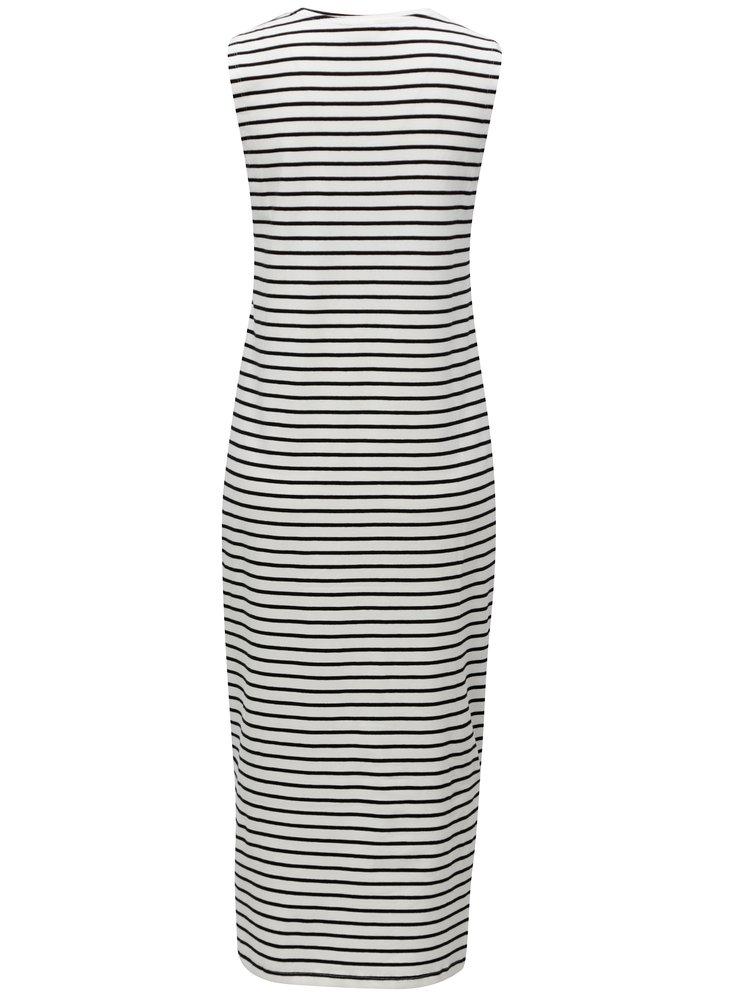 Černo-bílé pruhované midišaty Jacqueline de Yong Charm