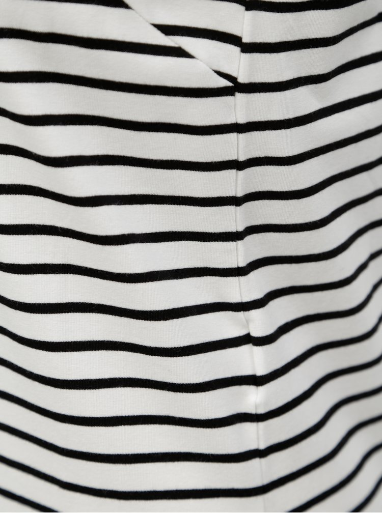 Čierno-biele pruhované midišaty Jacqueline de Yong Charm