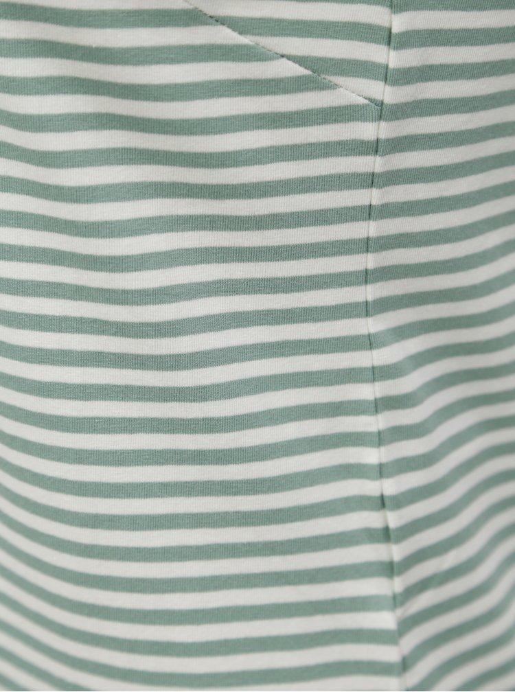 Rochie midi alb-verde in dungi Jacqueline de Yong Charm
