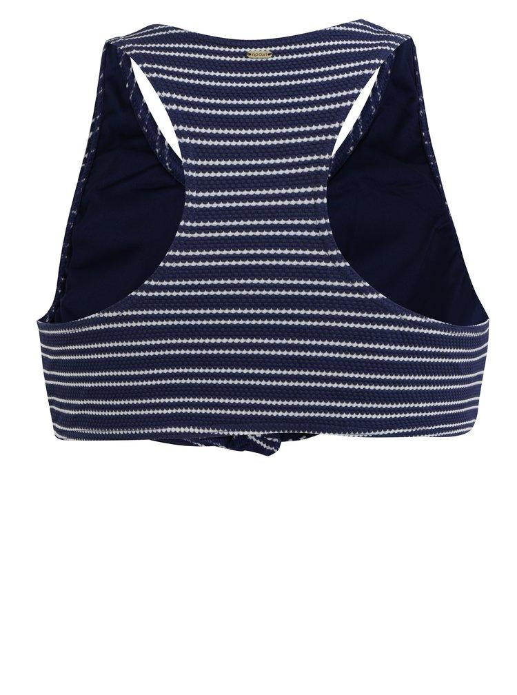 Tmavě modrý dámský pruhovaný horní díl plavek Rip Curl