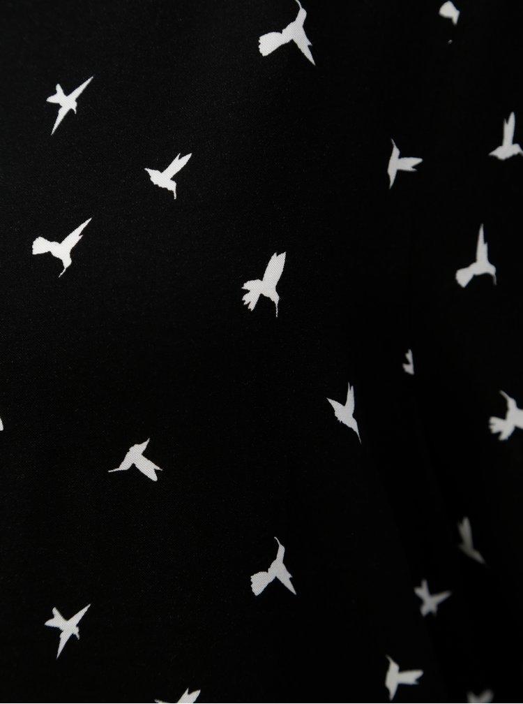 Černé vzorované tričko Jacqueline de Yong Victory