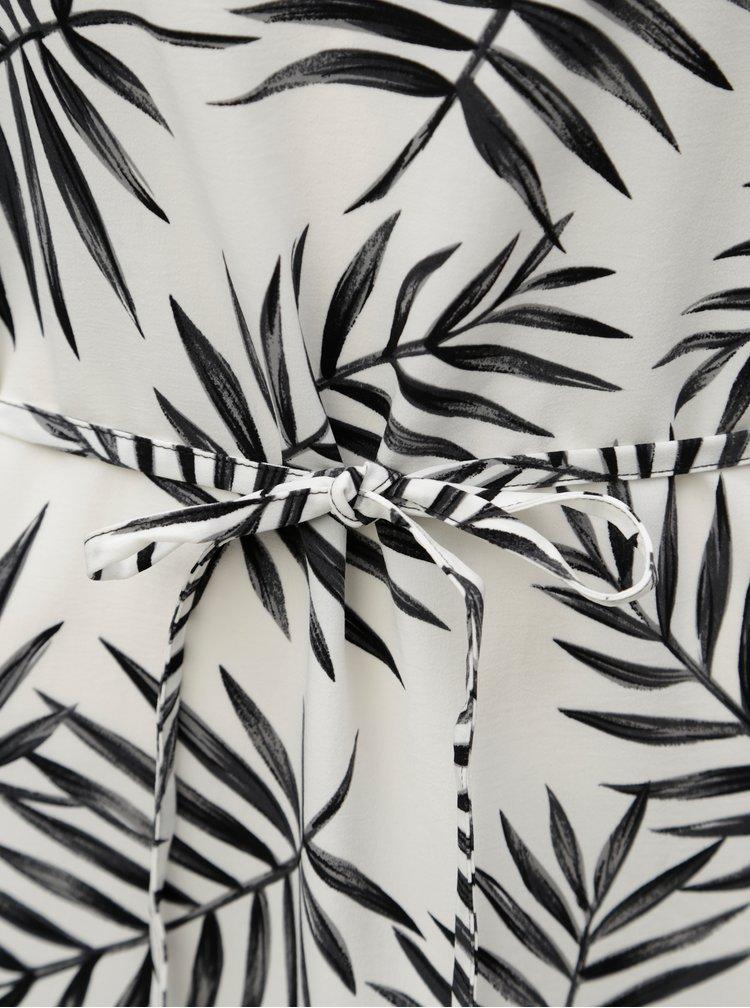 Černo-bílé vzorované midišaty Jacqueline de Yong Carla