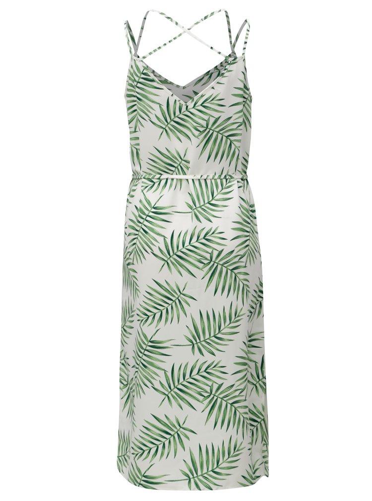 Zeleno-bílé vzorované midišaty Jacqueline de Yong Carla