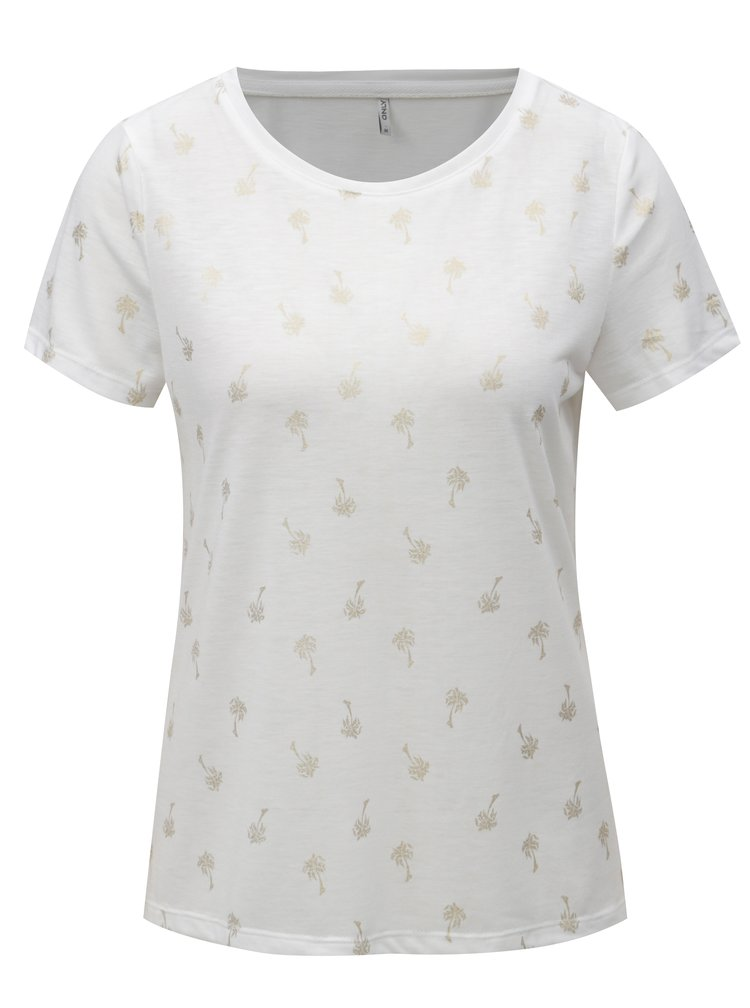 Tricou alb cu print ONLY New Isabella