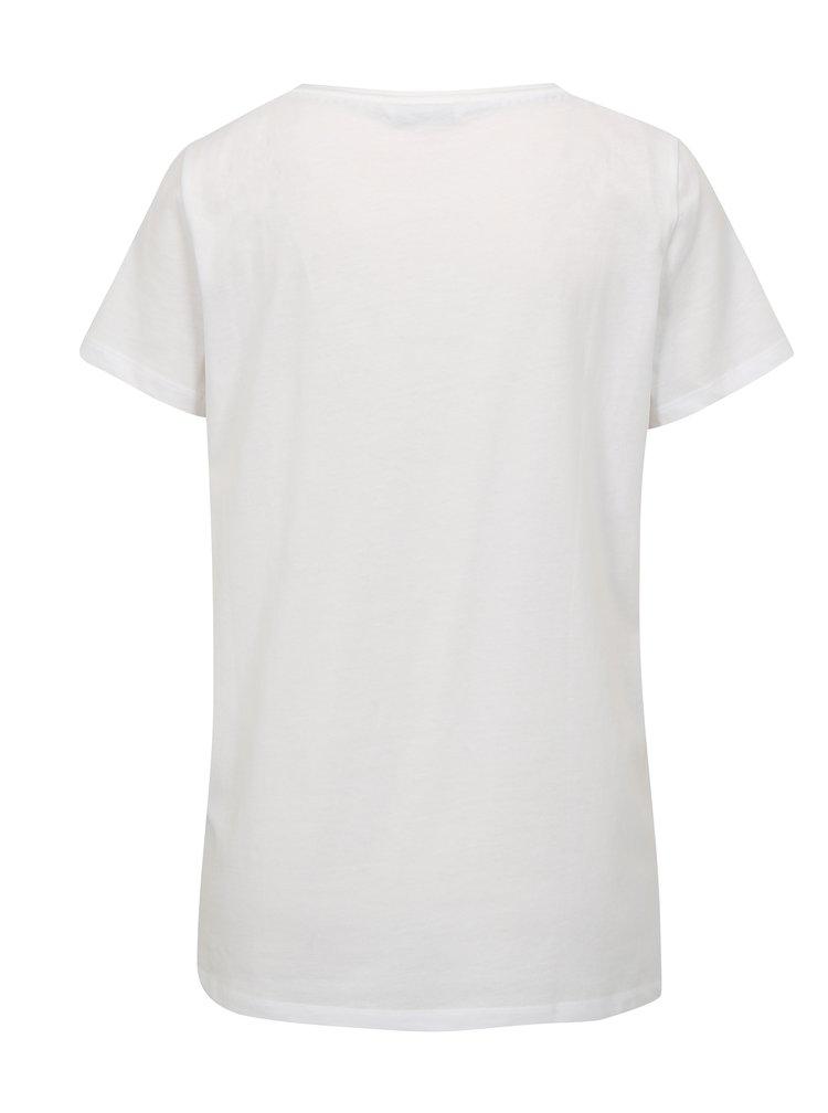 Bílé tričko s výšivkou ONLY Kita