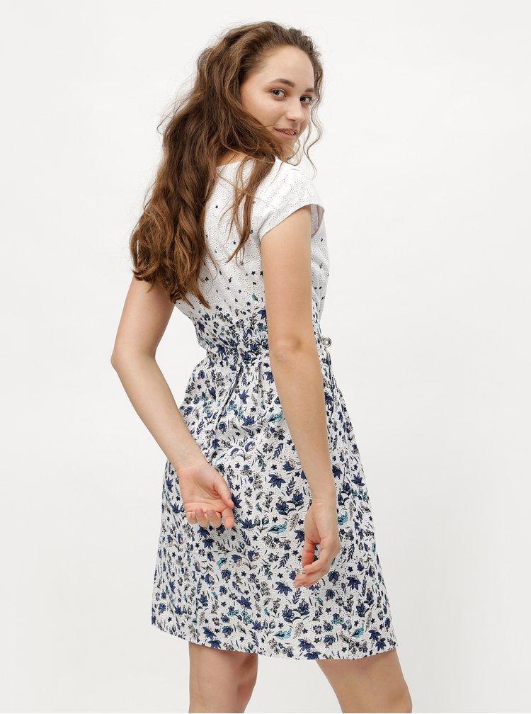 Modro-bílé květované šaty s.Oliver