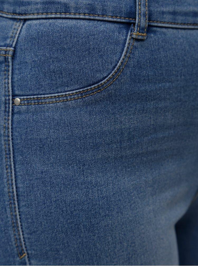 Modré zkrácené skinny džíny s průstřihy na nohavicích Dorothy Perkins Frankie