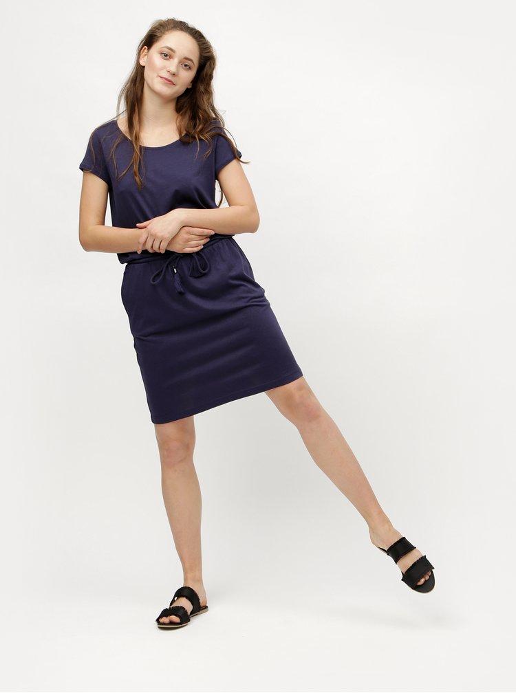 Tmavě modré šaty se zavazováním s.Oliver