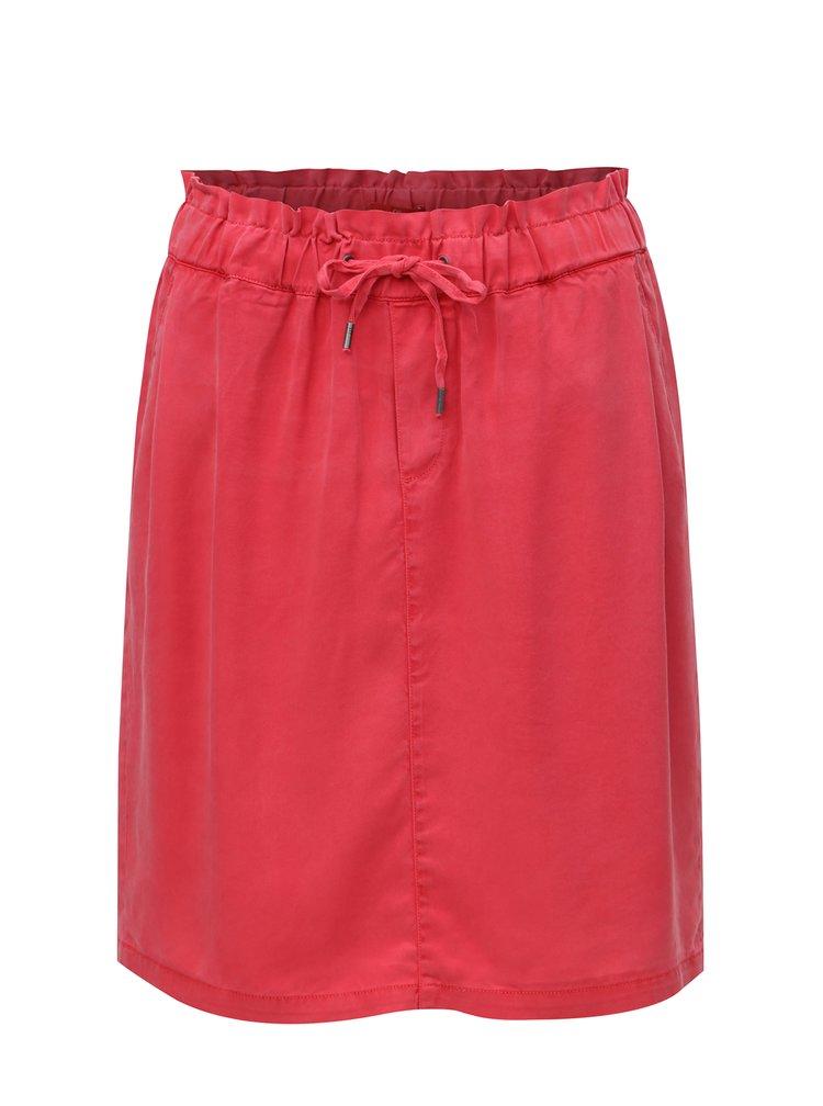 Červená sukně se zavazováním s.Oliver
