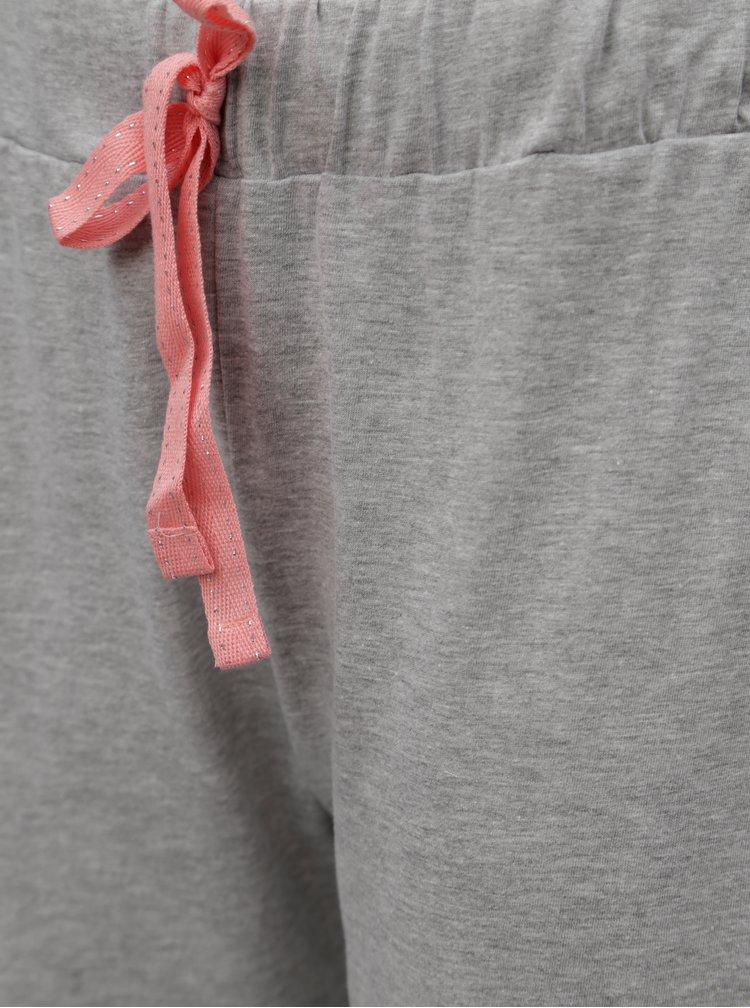 Pijama crem-gri cu print de flamingo Dorothy Perkins