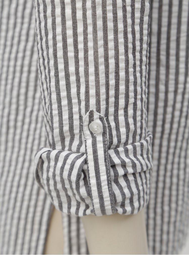 Camasa gri-alb in dungi cu maneci lungi Dorothy Perkins
