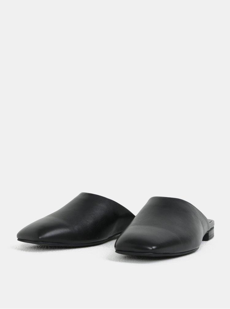 Černé dámské kožené pantofle Vagabond Dolores