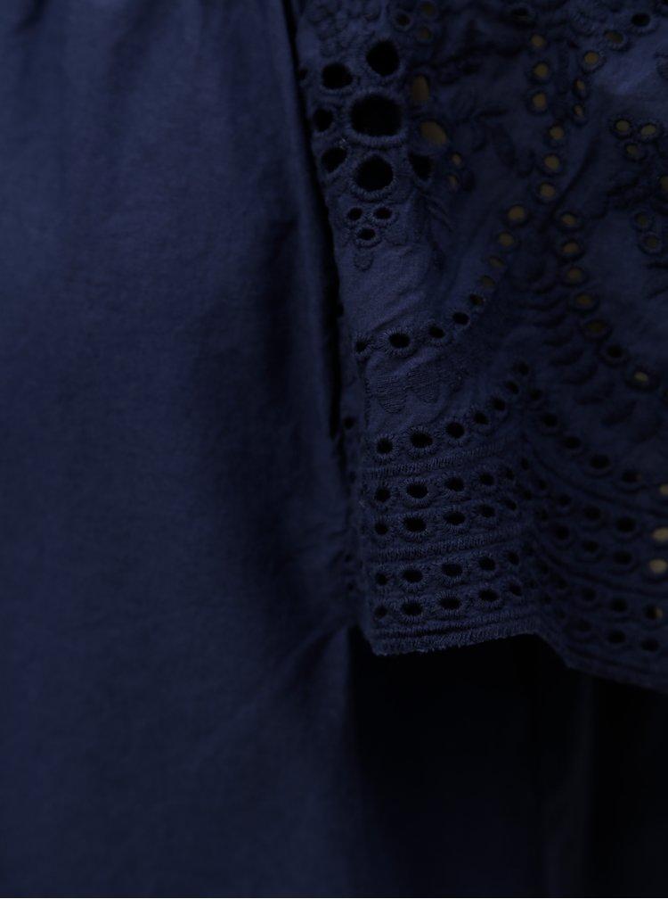 Tmavě modrá halenka s odhalenými rameny Dorothy Perkins