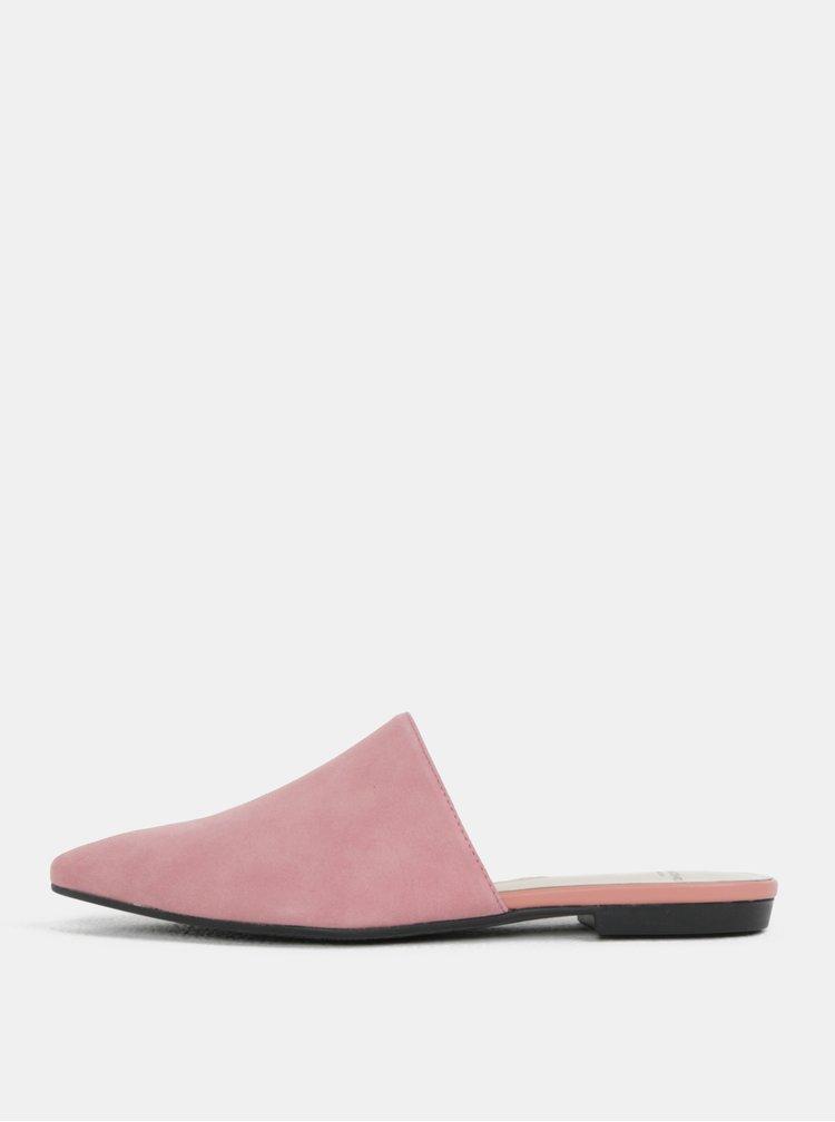 Světle růžové dámské semišové pantofle Vagabond Katlin